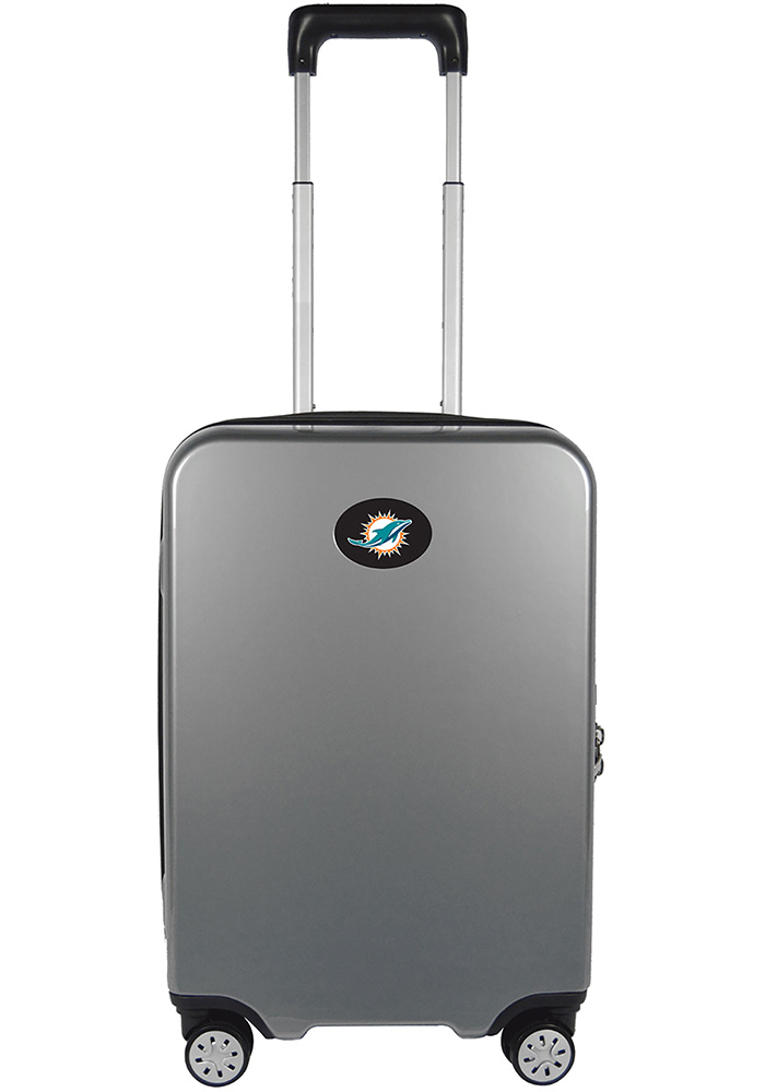 Miami Dolphins Silver 22g Hardcase Charging Port Luggage - Image 1