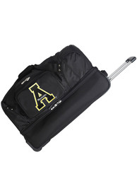 Appalachian State Mountaineers Black 27 Rolling Duffel Luggage
