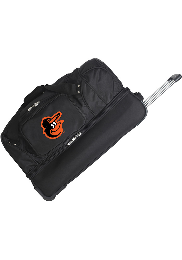 Baltimore Orioles Black 27 Rolling Duffel Luggage - Image 1