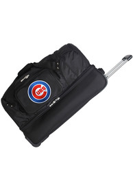 Chicago Cubs Black 27 Rolling Duffel Luggage