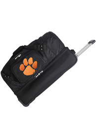 Clemson Tigers Black 27 Rolling Duffel Luggage