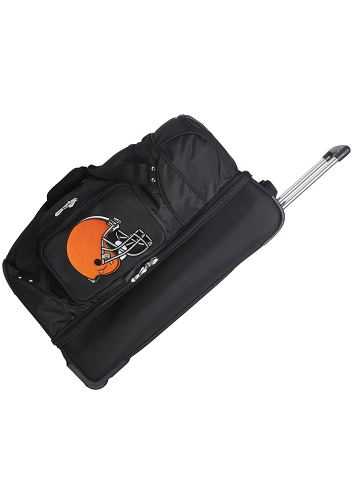 Cleveland Browns Black 27g Rolling Duffel Luggage - Image 1