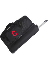 Cleveland Indians Black 27 Rolling Duffel Luggage