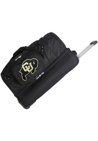 Colorado Buffaloes Black 27 Rolling Duffel Luggage