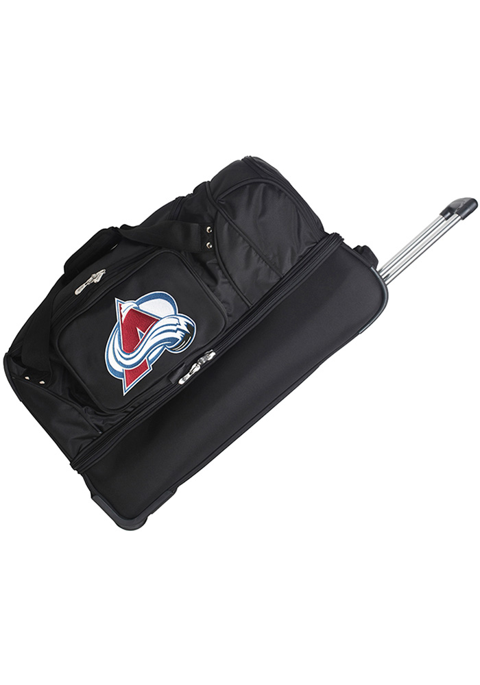 Colorado Avalanche Black 27 Rolling Duffel Luggage - Image 1