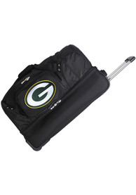 Green Bay Packers Black 27 Rolling Duffel Luggage