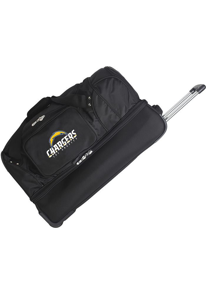 Los Angeles Chargers Black 27 Rolling Duffel Luggage - Image 1