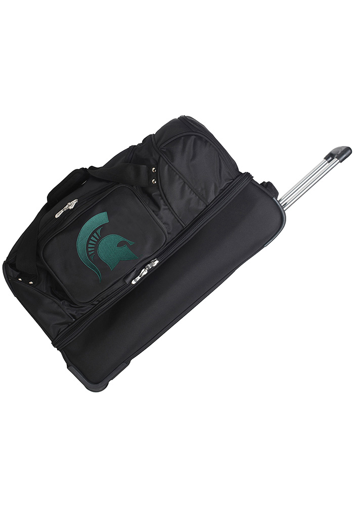Michigan State Spartans Black 27 Rolling Duffel Luggage - Image 1