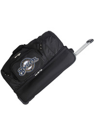 Milwaukee Brewers Black 27 Rolling Duffel Luggage