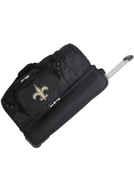 New Orleans Saints Black 27 Rolling Duffel Luggage