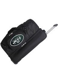 New York Jets Black 27 Rolling Duffel Luggage