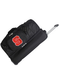 NC State Wolfpack Black 27 Rolling Duffel Luggage