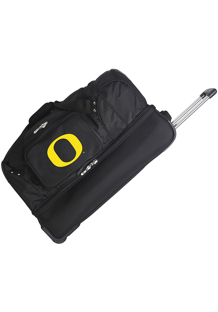 Oregon Ducks Black 27g Rolling Duffel Luggage - Image 1