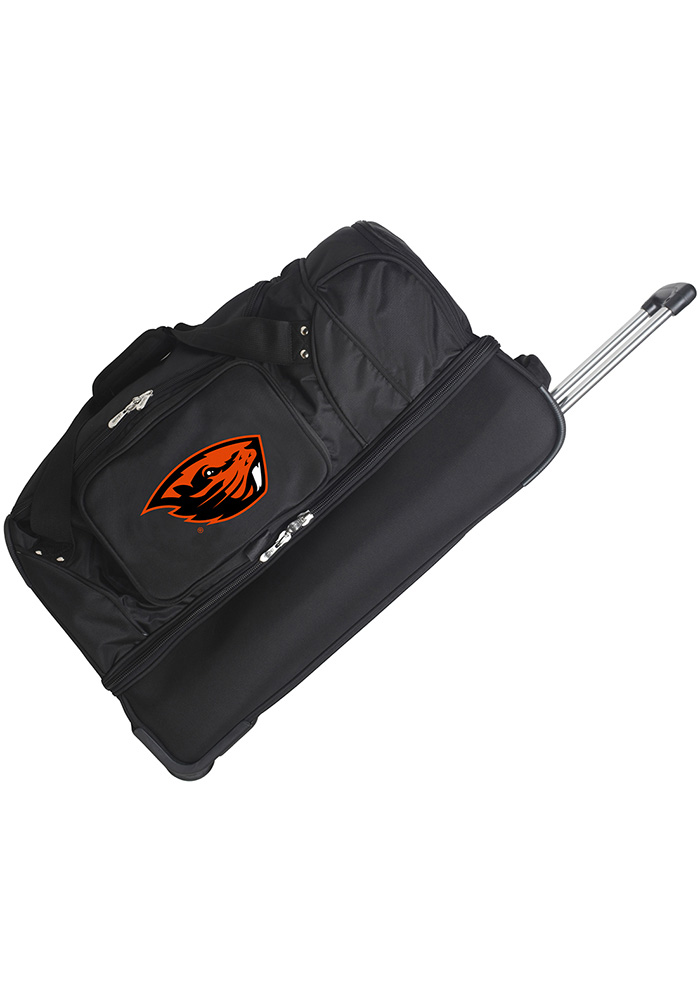 Oregon State Beavers Black 27g Rolling Duffel Luggage - Image 1