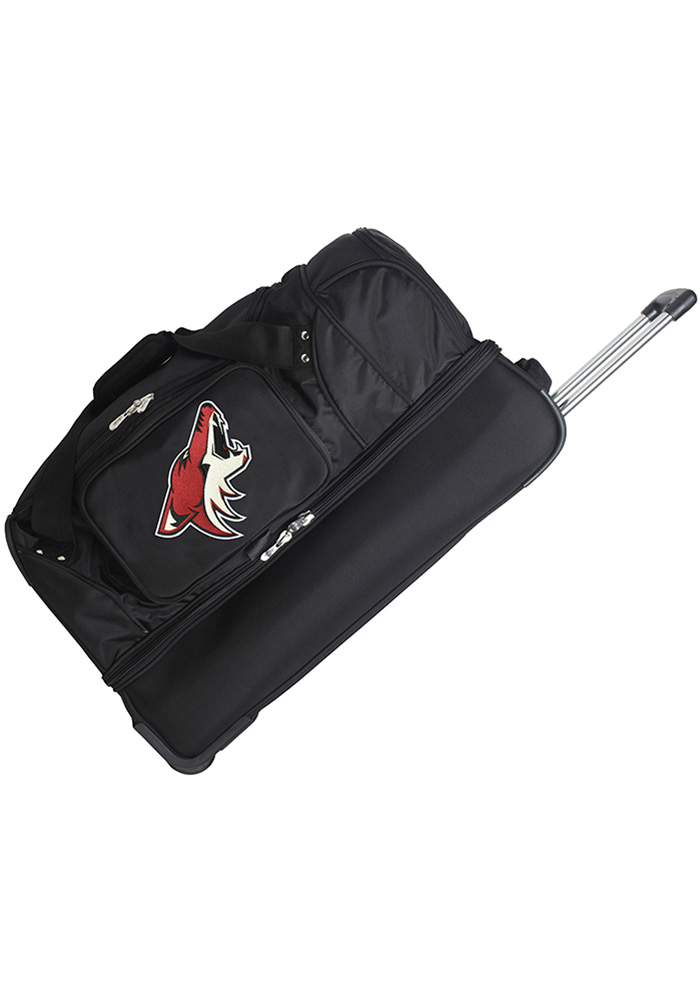 Arizona Coyotes Black 27g Rolling Duffel Luggage - Image 1