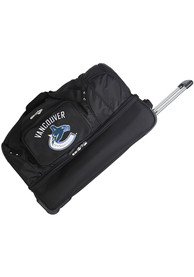 Vancouver Canucks Black 27 Rolling Duffel Luggage