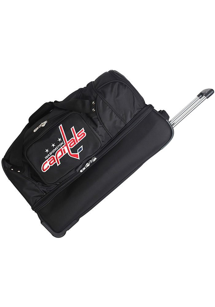 Washington Capitals Black 27 Rolling Duffel Luggage - Image 1