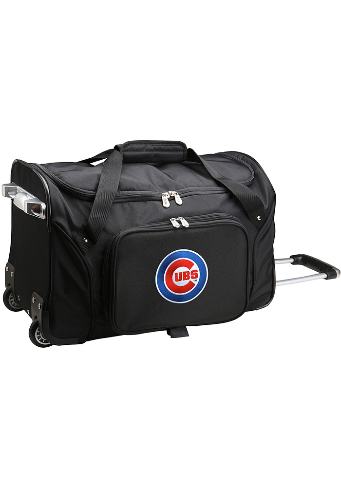 Chicago Cubs Black 22 Rolling Duffel Luggage - Image 1