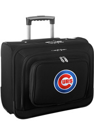Chicago Cubs Black Overnighter Laptop Luggage