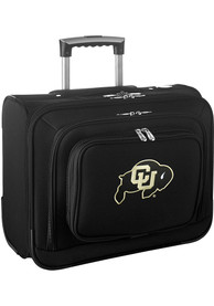 Colorado Buffaloes Black Overnighter Laptop Luggage