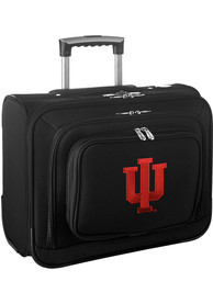 Indiana Hoosiers Black Overnighter Laptop Luggage