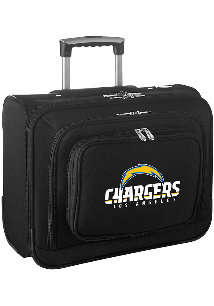 Los Angeles Chargers Black Overnighter Laptop Luggage - Image 1