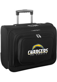 Los Angeles Chargers Black Overnighter Laptop Luggage