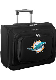 Miami Dolphins Black Overnighter Laptop Luggage