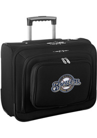 Milwaukee Brewers Black Overnighter Laptop Luggage