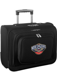 New Orleans Pelicans Black Overnighter Laptop Luggage