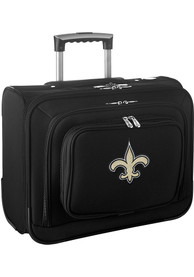New Orleans Saints Black Overnighter Laptop Luggage