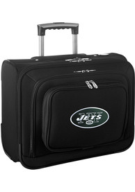 New York Jets Black Overnighter Laptop Luggage