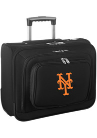 New York Mets Black Overnighter Laptop Luggage