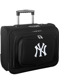 New York Yankees Black Overnighter Laptop Luggage