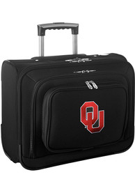 Oklahoma Sooners Black Overnighter Laptop Luggage