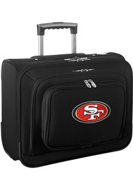 San Francisco 49ers Black Overnighter Laptop Luggage
