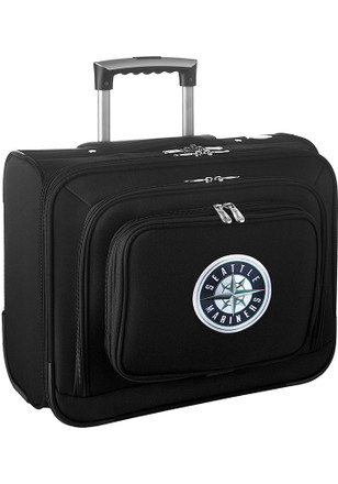 Seattle Mariners Black Overnighter Laptop Luggage