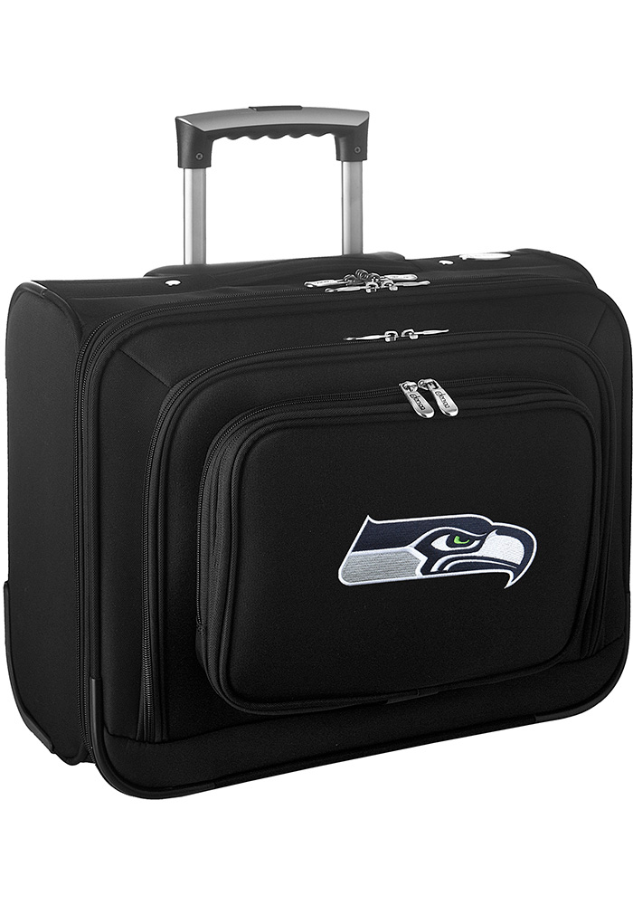 Seattle Seahawks Black Overnighter Laptop Luggage - Image 1