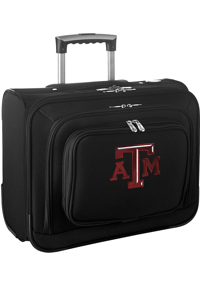 Texas A&M Aggies Black Overnighter Laptop Luggage - Image 1