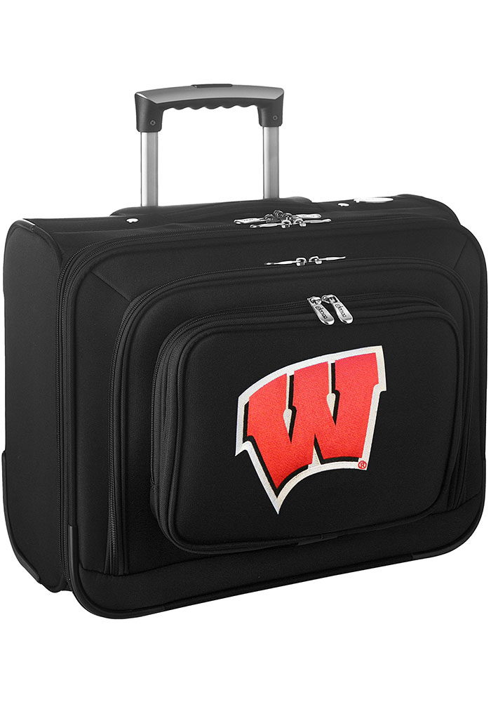Wisconsin Badgers Black Overnighter Laptop Luggage - Image 1