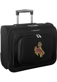 Wyoming Cowboys Black Overnighter Laptop Luggage