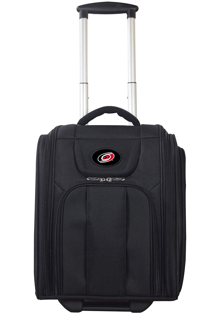Carolina Hurricanes Black Wheeled Business Luggage - Image 1