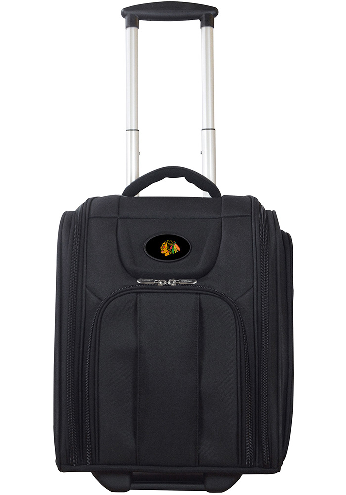 Chicago Blackhawks Black Wheeled Business Luggage - Image 1
