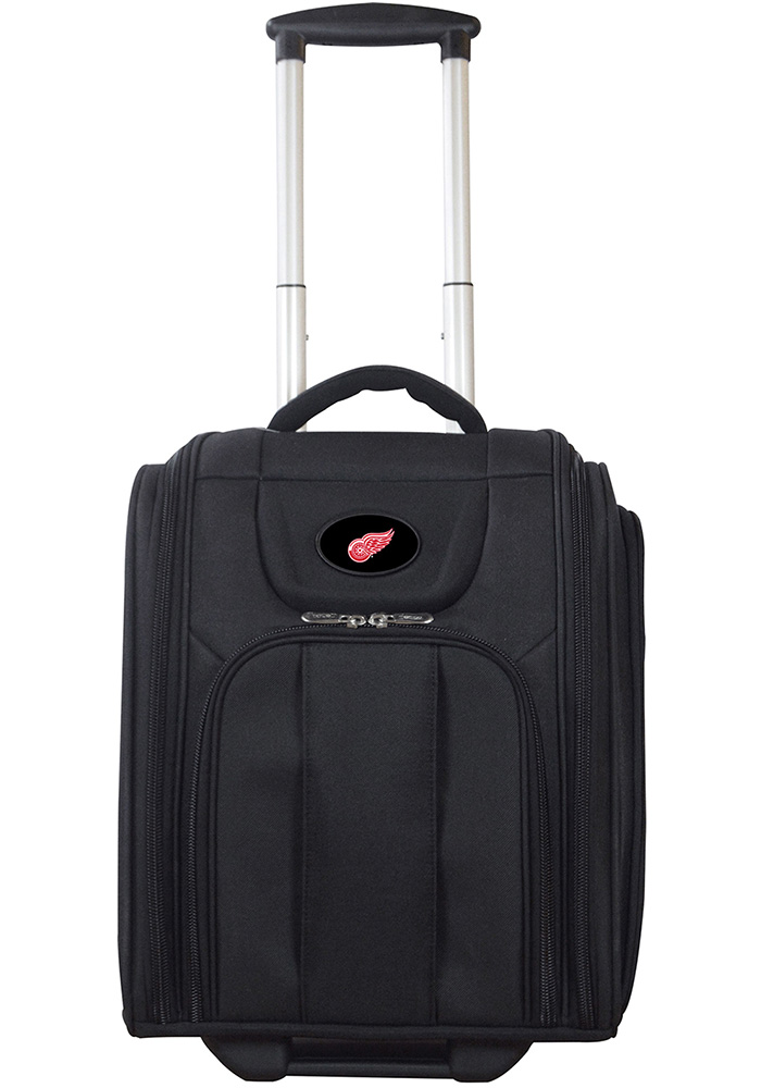 Detroit Red Wings Black Wheeled Business Luggage - Image 1