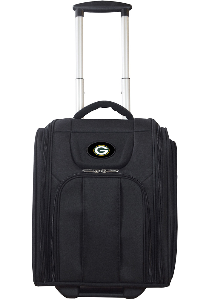 Green Bay Packers Black Wheeled Business Luggage - Image 1
