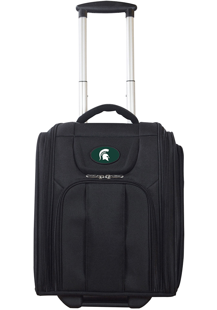 Michigan State Spartans Black Wheeled Business Luggage - Image 1