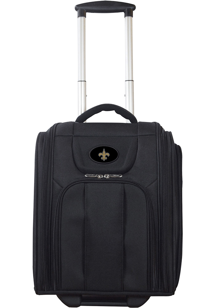 New Orleans Saints Black Wheeled Business Luggage - Image 1