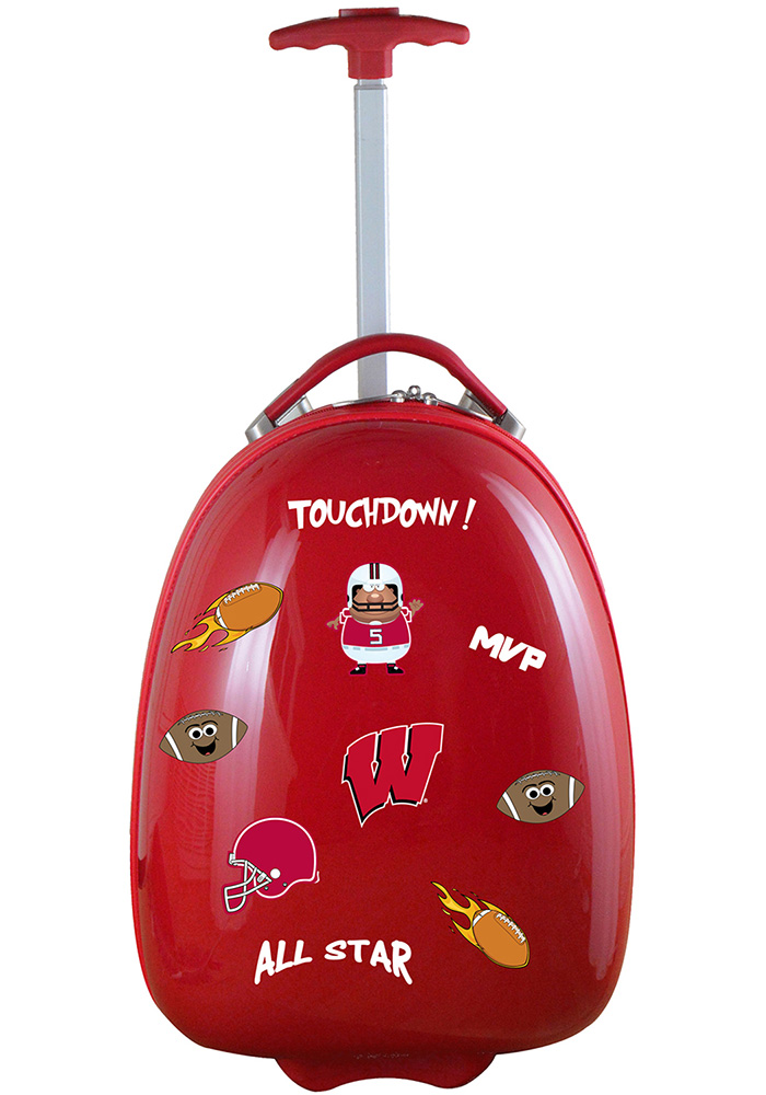 Wisconsin Badgers Red Kid Pod Luggage - Image 1