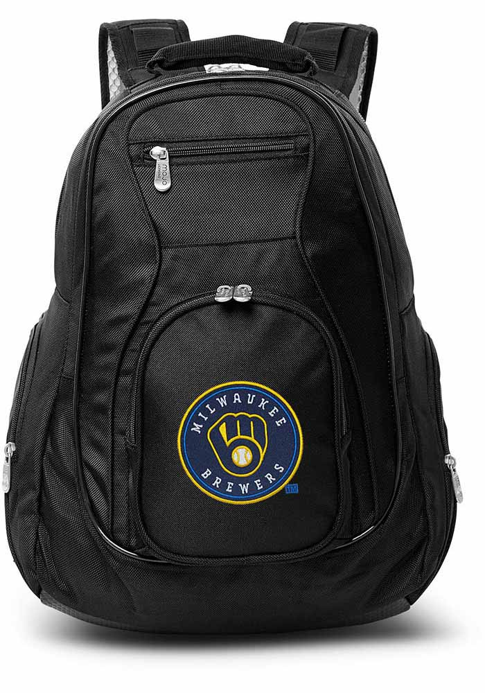 Milwaukee Brewers Black 19g Laptop Backpack - Image 1