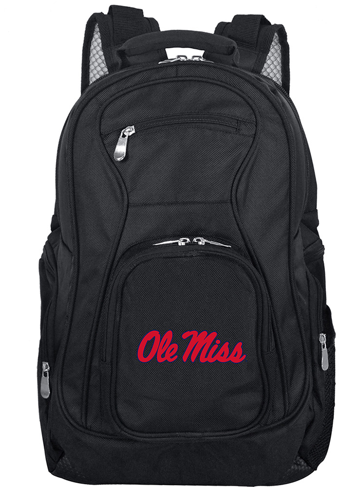 Ole Miss Rebels Black 19g Laptop Backpack - Image 1